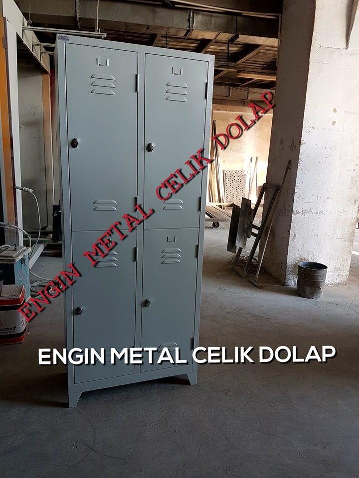 4 kapılı özel üretim çelik personel soyunma dolabı