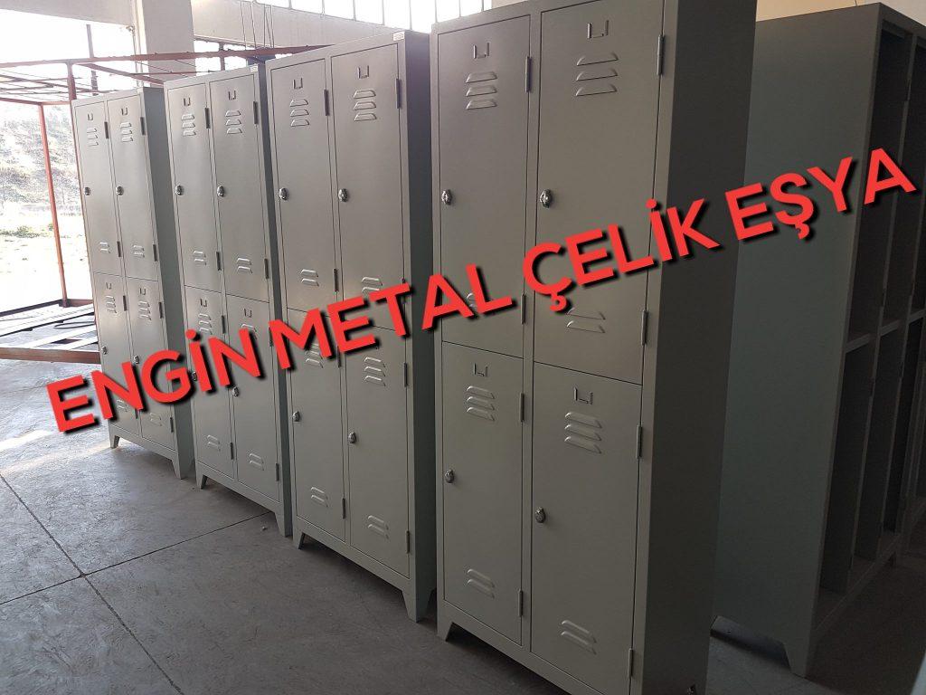 4 lü çelik işçi metal personel soyunma dolabı uygun fiyat