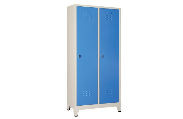 İki kapılı soyunma dolabı mavi